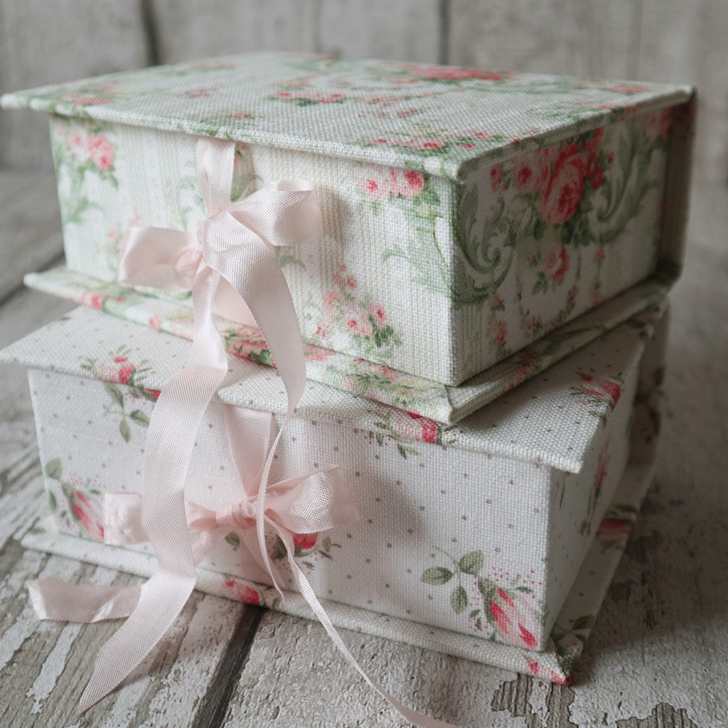 Small Fabric Covered Keepsake Boxes