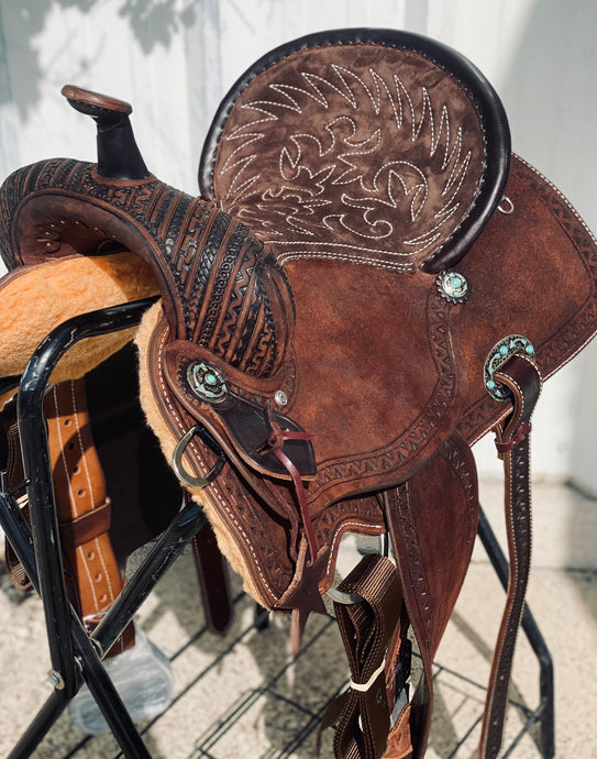 Alamo Saddlery Geo-Aztec Barrel Saddle