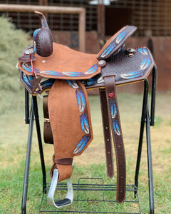 Alamo Saddlery Feather Barrel Saddle