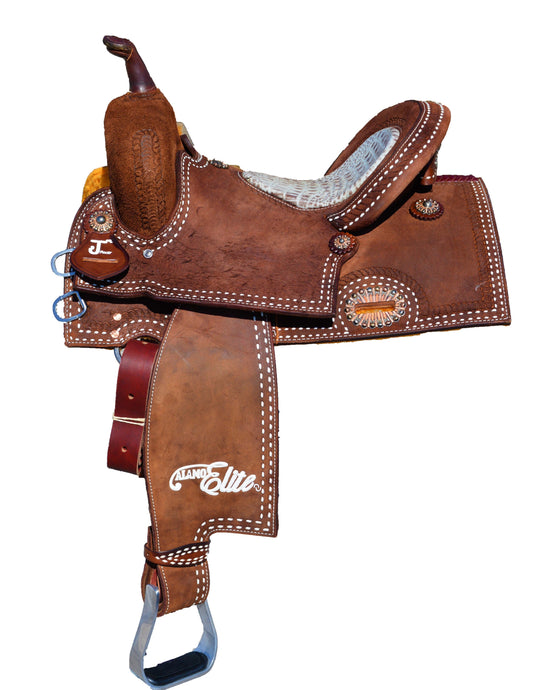 Alamo Saddlery Sherrylynn Johnson Full Rough Out Barrel Saddle