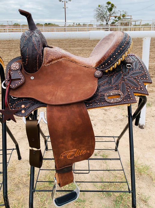 Alamo Saddlery Sherrylynn Fancy Barrel Saddle