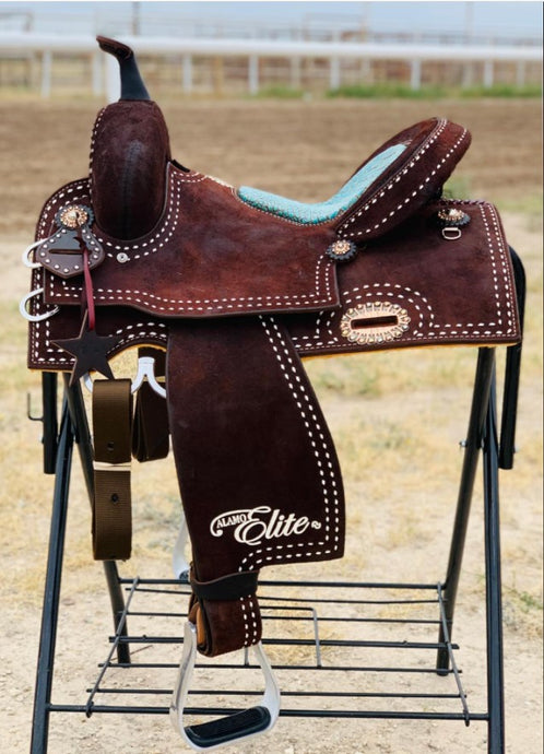 Alamo Saddlery Sherrylynn Johnson Rough Out Barrel Saddle