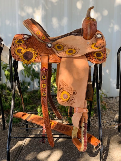Alamo Saddlery Sunflower Barrel Saddle