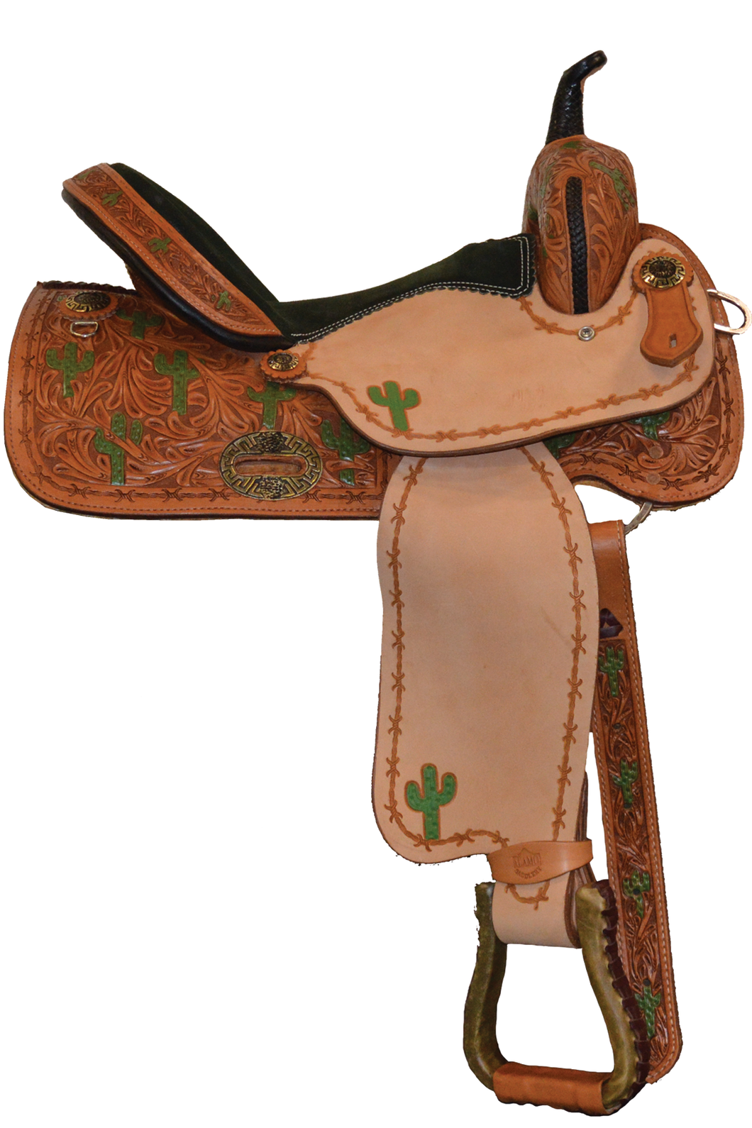 Alamo Saddlery SD-13 You Cactus This Barrel Saddle