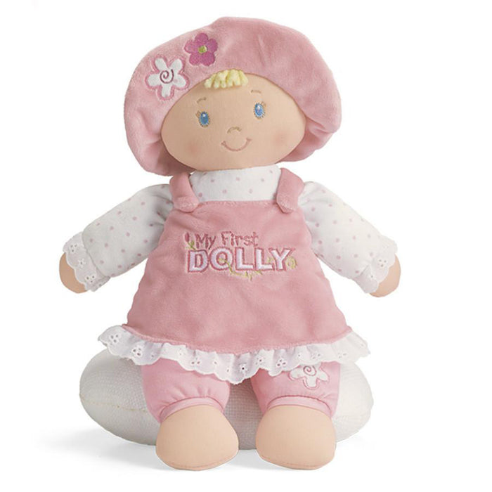 GUND My First Dolly Kids/Childrens Soft Plush Stuffed Toy Girl Doll - Blonde