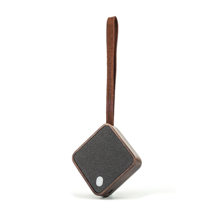 Gingko MI Square Pocket Bluetooth Speaker, Portable & Rechargeable - Wood Effect