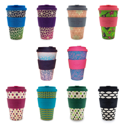 selection of 14oz bamboo coffee cups