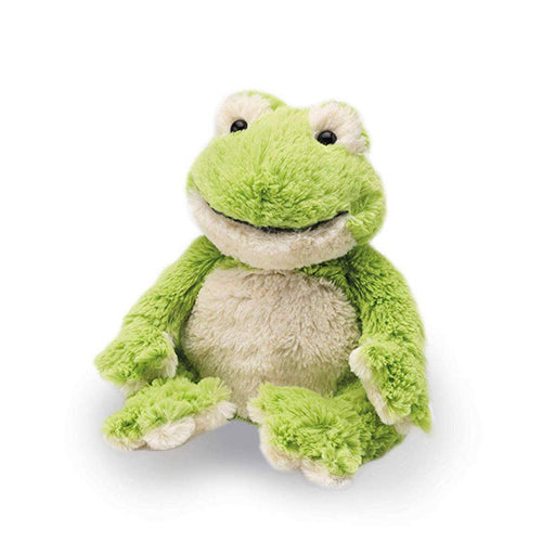warmies green frog heatable soft toy