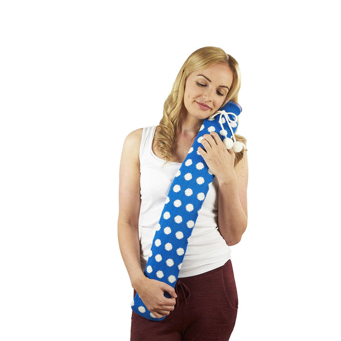 Warmies PVC Extra Long Hot Water Bottles With Fabric Sleeve, 78cm x 12cms (Approx), Various Colours