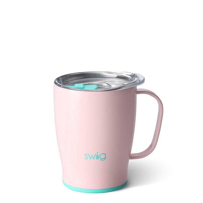 Swig Life Reusable Eco-Friendly Travel Mug With Lid & Handle Outdoor Insulated Stainless Steel 530ml