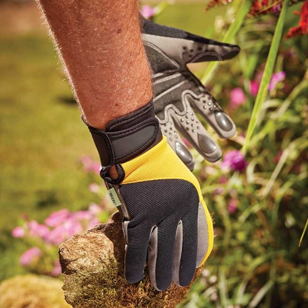 Advanced Grip & Protect Gardening Gloves With Durable Finger/Palm Pads