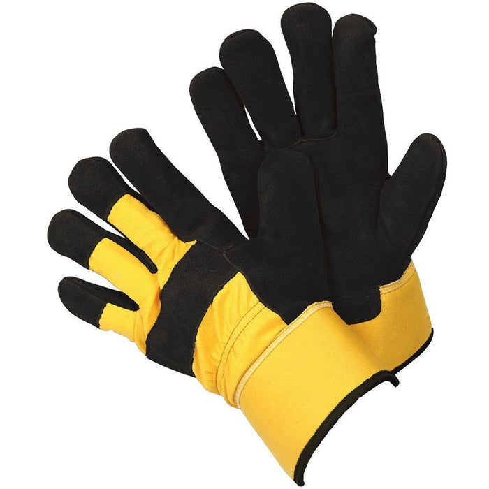 Men's Rigger Outdoor Work & Gardening Gloves With Thermal Leather Protection