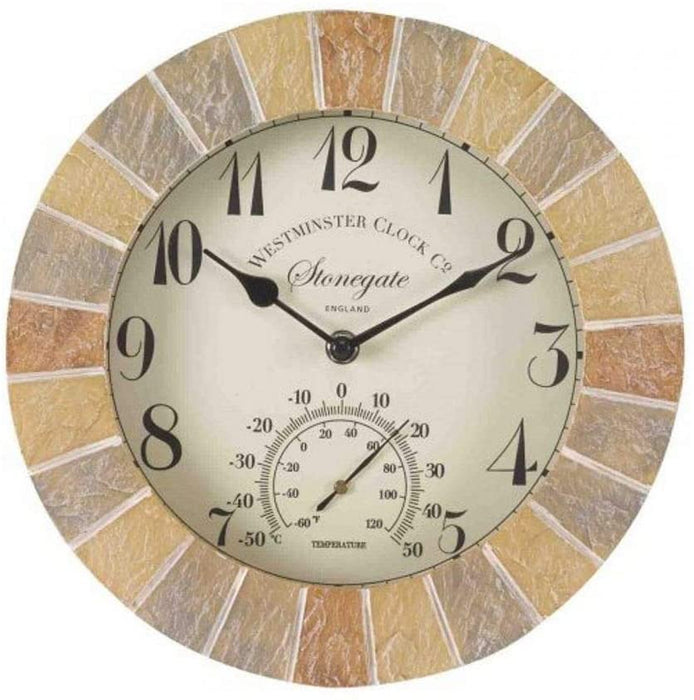 "Outdoor Stonegate 10"" wall clock"