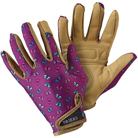 Briers Profession'elle' Gloves, Purple Butterfly, Medium