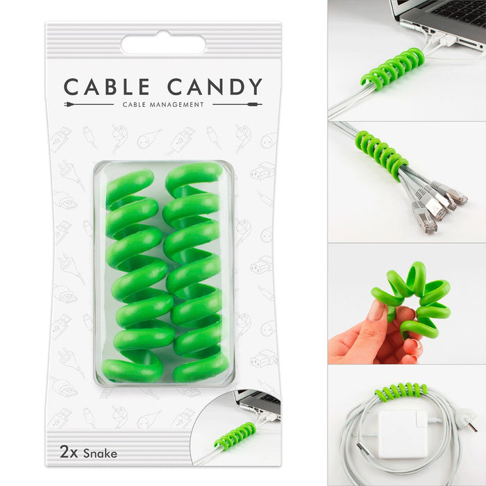 Cable Holder and Cable Guide - Cable Candy - Snake Various Colours & Size