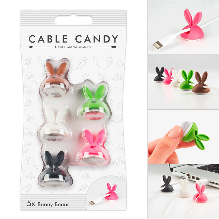 Cable Candy Bunny Beans Cable Holder And Lead Organisers