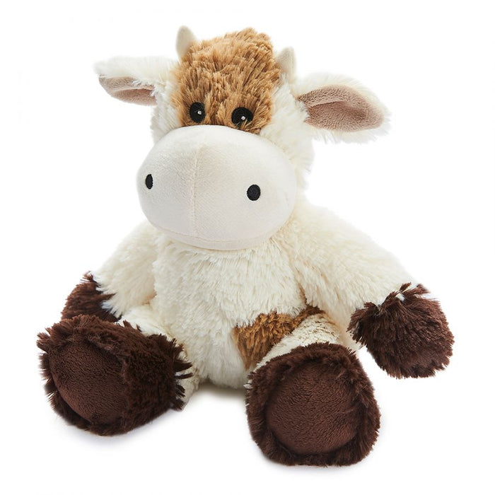 Warmies cream cow heatable soft toy