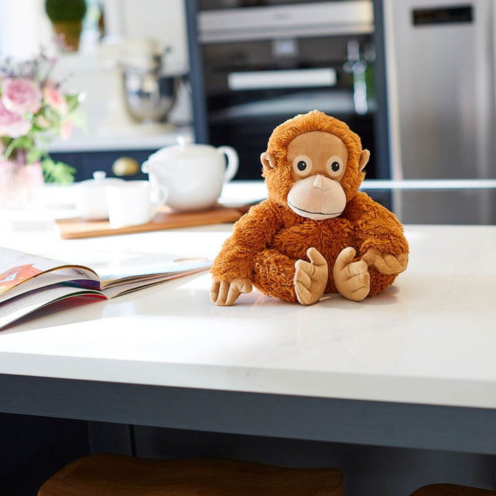Warmies Microwavable Heatable Soft Toy Orangutan Lavender Scent Relax Sleep Aid