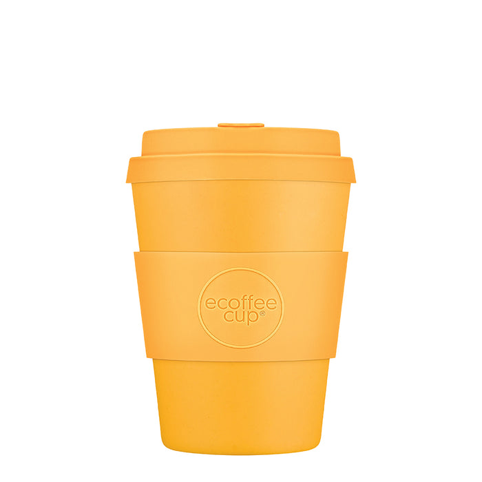 12oz 340ml Ecoffee Reusable Cups With Silicone Lid Tops, Made With Natural Bamboo Fibre
