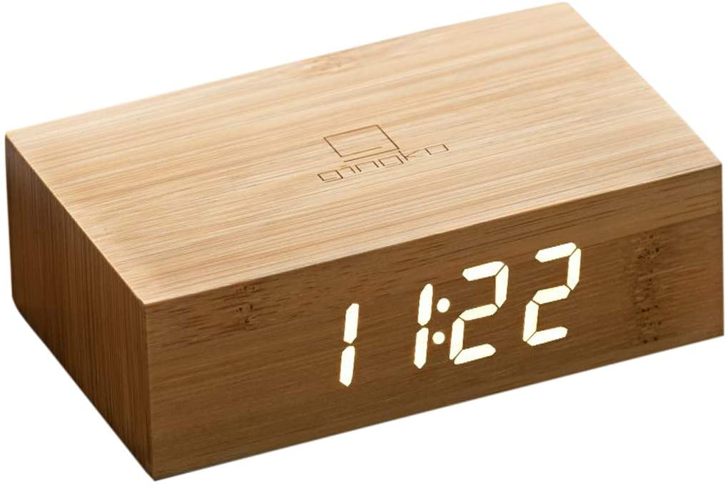 Gingko Rechargeable LED Alarm Clock Sound Activated Flip Technology, Various