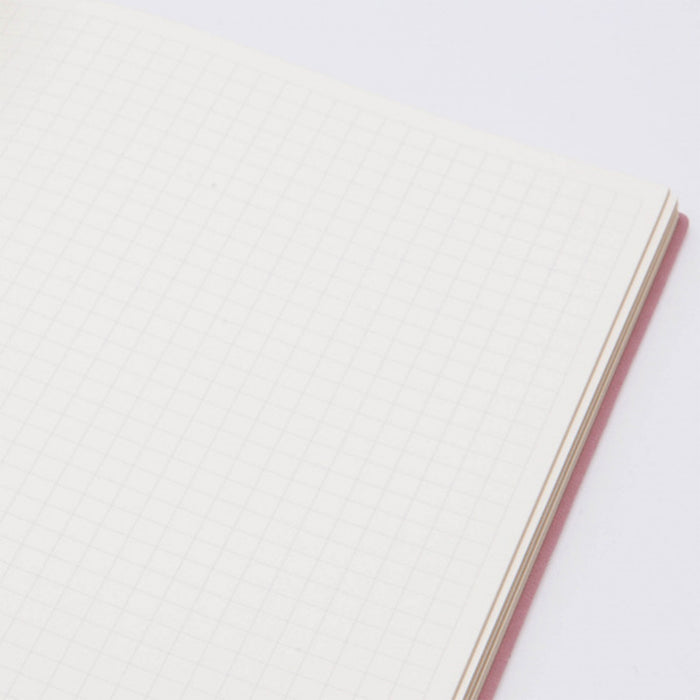 Signature Flat Geo A5 Grid Notebook Fine Italian PU Soft Cover, 176 Page - W151mm x H212mm, Various Colours