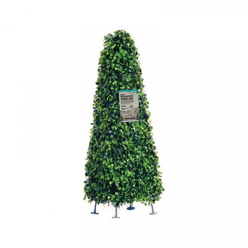 Shop now garden outdoor artificial plant obelisk hedge with green leaves and sturdy feet