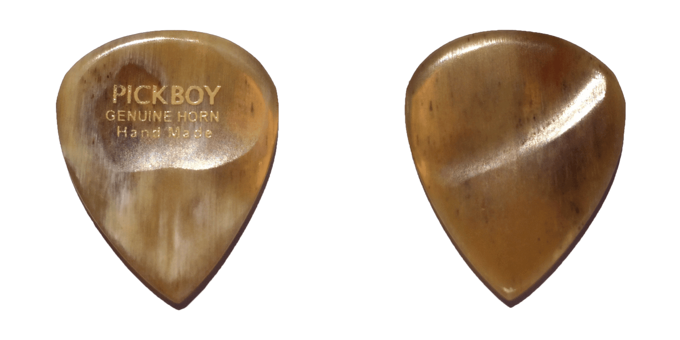 Pickboy Guitar Picks/Plectrums - Exotic Extra Heavy With Thumb Depression & Finger Groove