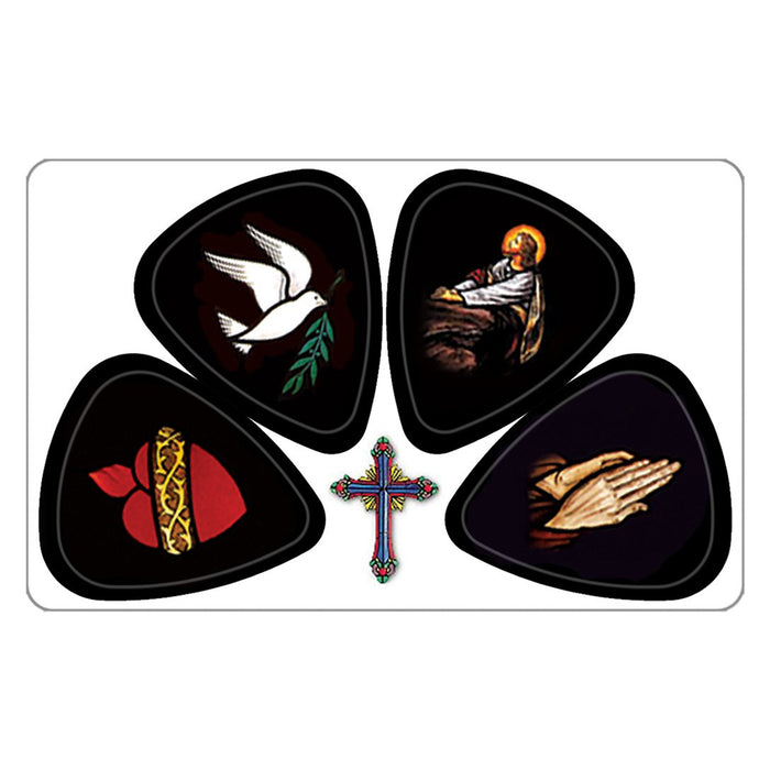 3 PikCard Guitar Picks/Plectrums - Pack of 3 - 12 Picks - Medium 0.75mm