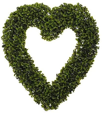 Shop now artificial topiary heart wreath