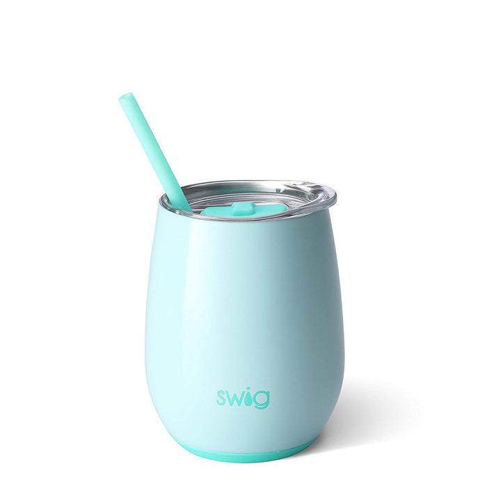 Shop Swig Reusable Wine Glass With No Stem And Straw
