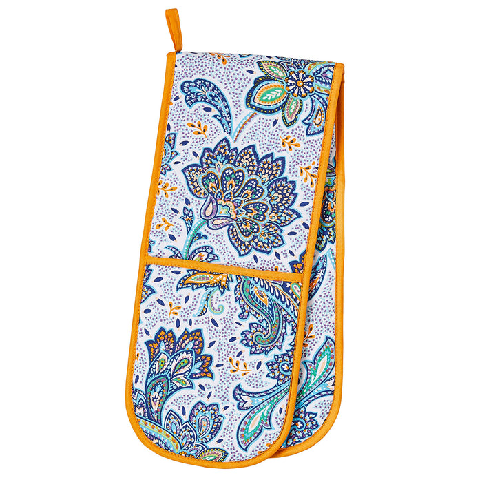 Ulster Weavers Kitchen Accessories - Apron, Double Oven Glove, Gauntlet, Tea Towel & Reusable Shopping Bag, Italian Paisley