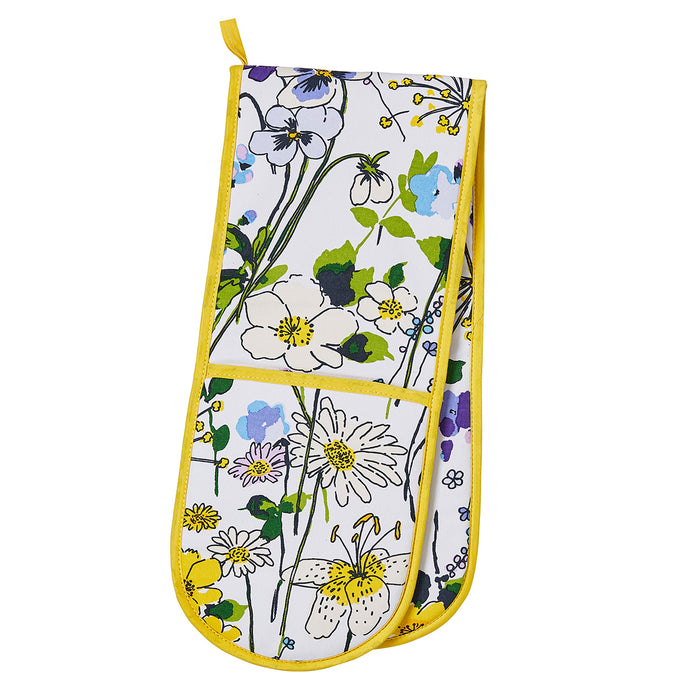 Ulster Weavers Kitchen Accessories - Apron, Double Oven Glove, Gauntlet, Tea Towel & Reusable Shopping Bag, Wildflowers