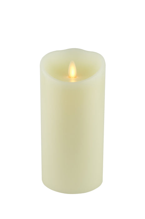 LED Flameless Battery Powered Pillar Candles Wax Covered Unscented