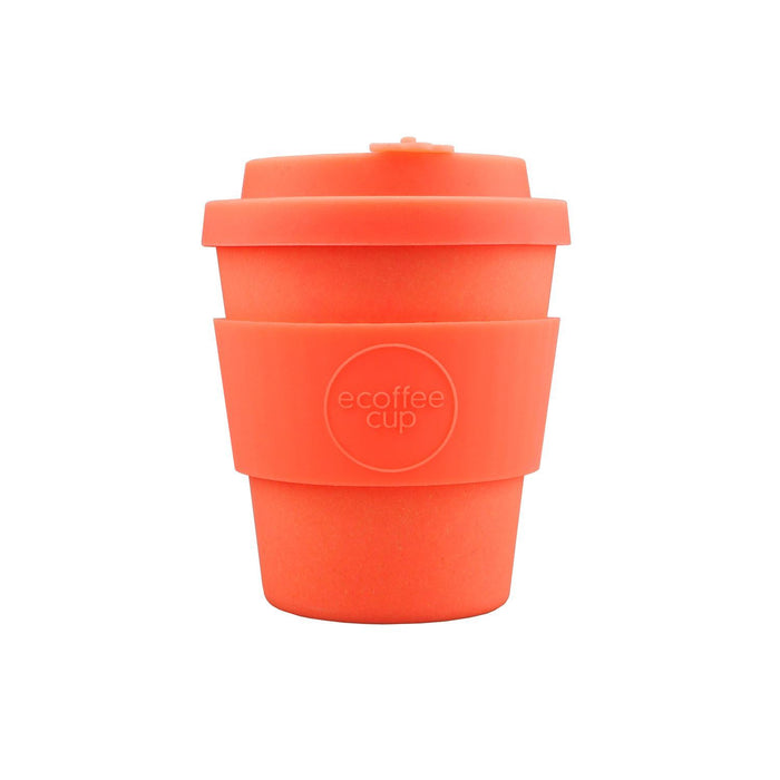 8oz 250ml Ecoffee Reusable Cups With Silicone Lid Tops, Made With Natural Bamboo Fibre