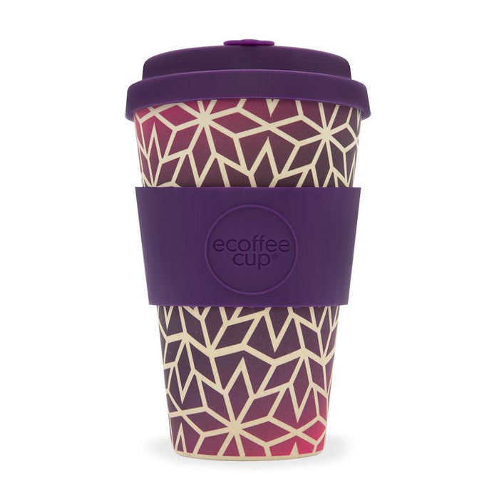 eCoffee Reusable Eco-Friendly Sustainable Bamboo 14oz Coffee Cups With Silicone Lid & Sleeve