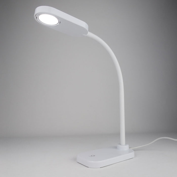 Xtralite LED Desk Lamp With Flexible Gooseneck - White