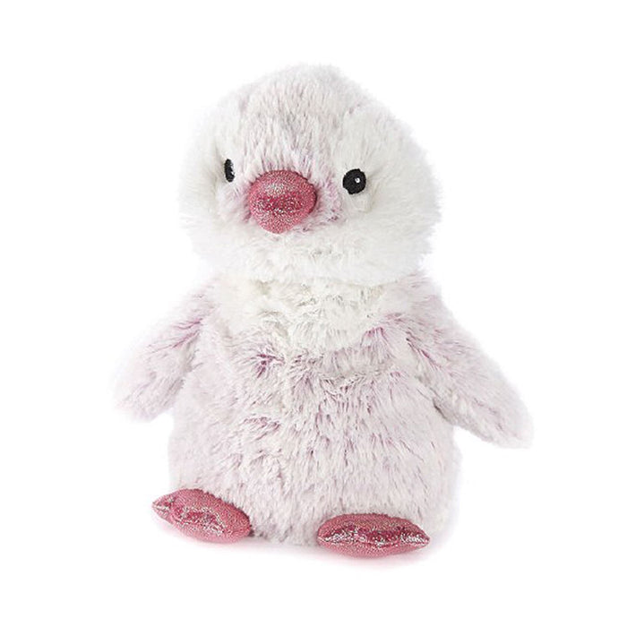warmies pink penguin heatable toy