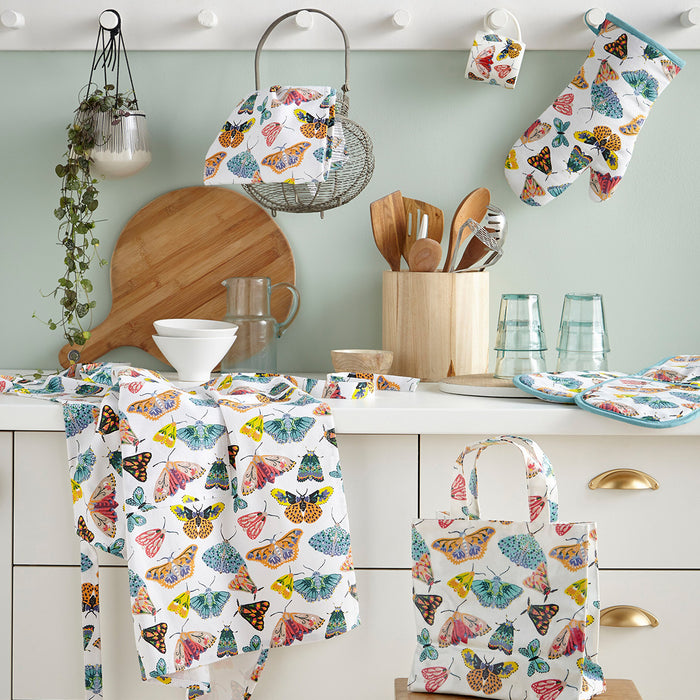 Ulster Weavers Kitchen Accessories - Apron, Double Oven Glove, Gauntlet, Tea Towel & Reusable Shopping Bag, Butterfly House