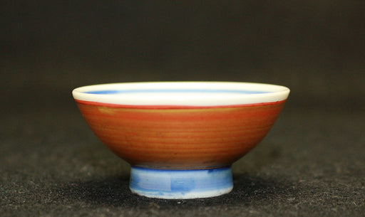 20471 近藤悠三 (Red ground Gilded Cup) KONDO Yuzo