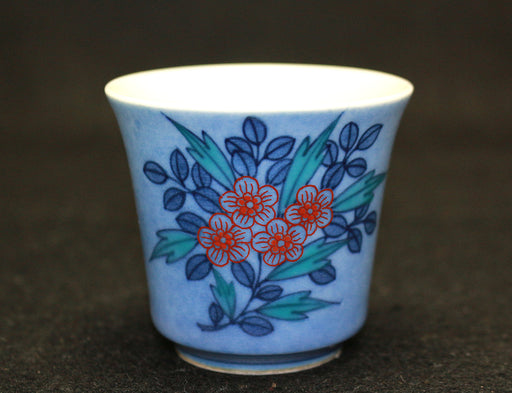 22017 13代今泉今右衛門 (Coloring Ink Flower writing Cup)  13th IMAIZUMI Imaemon