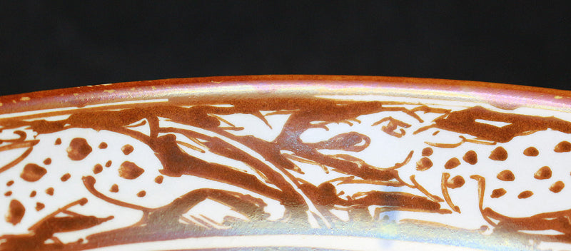 23778 人間国宝 加藤卓男  (raster glaze Camel and person pattern teacup)  KATO Takuo