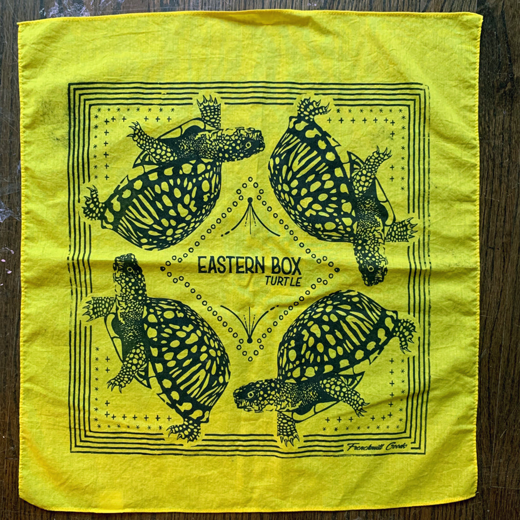 MISPRINT // Eastern Box Turtle Bandana - A