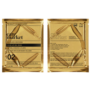 24k gold collagen enriched lip gel masks from care market that helps hydrate lipss