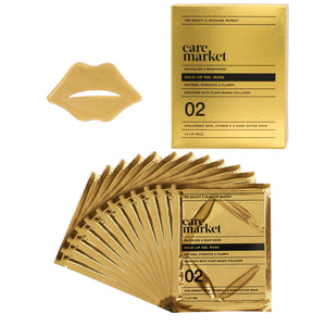 24k gold collagen enriched lip gel masks from care market that helps moisturize and revitalize lips