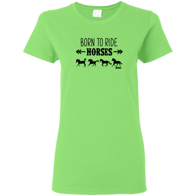 Born To Ride Horses Funny Short Sleeve Gift Shirt