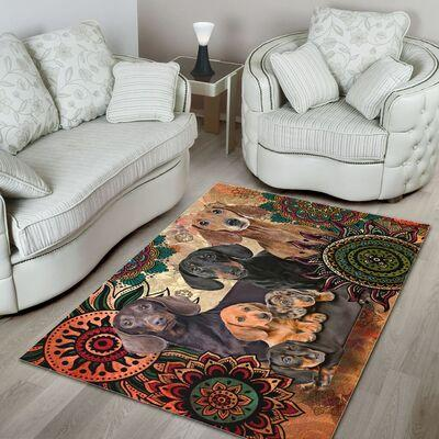 Dachshund Rug Mat All Over Print