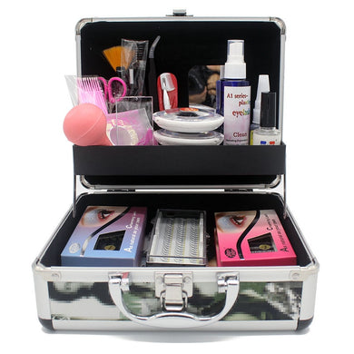 Stars Colors Professional Eyelash Extension Kit Individual Mink Eyelashes Grafting Set with Case False Eye Lashes Training Kits