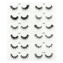 Load image into Gallery viewer, Mink Eyelashes 3D Mink False Eyelash Natural Full Strip Transparent band lashes cilios posticos 12 styles Invisible Band Lashes