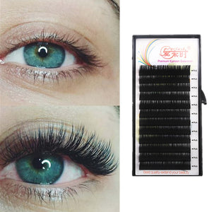 All Size Individual Eyelash Extension BCD Curl High Quality False Mink Lash Classical False Eyelash Extension Cilia