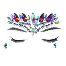 Load image into Gallery viewer, Temporary Crystal Face Eye Tattoo Stickers 3D Glitter Face Gems Jewels Sticker Eyebrow Music Festival Body Art Diamond Tattoo